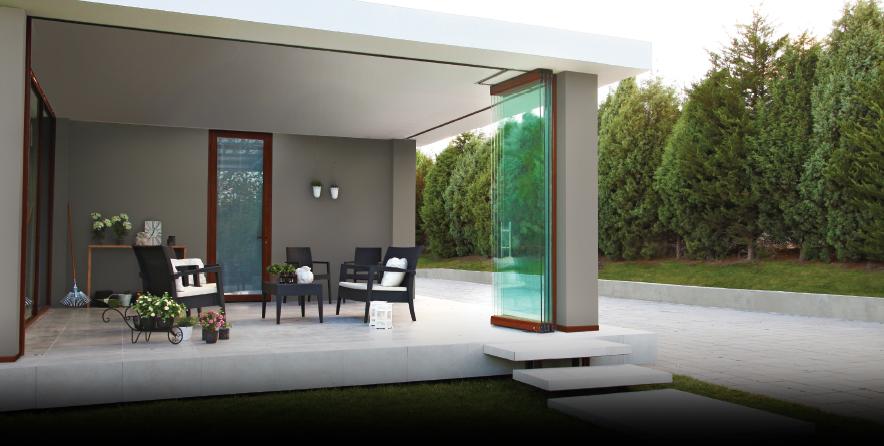 Bild von Glasschiebewand