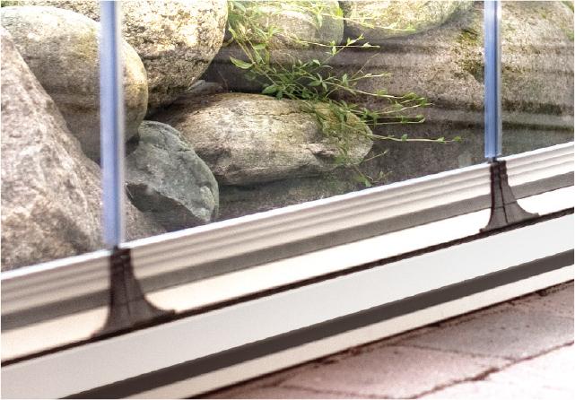 Bild von Glasschiebetür, 3 Schienen